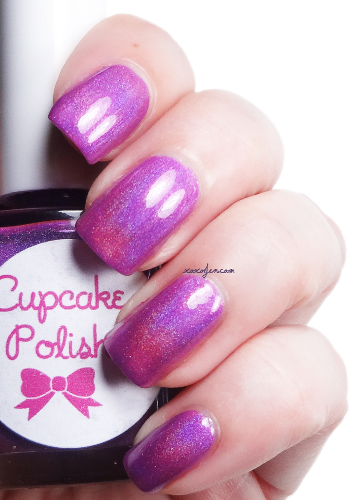 xoxoJen's swatch of Cupcake Polish Purple Rain