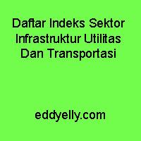 Daftar Indeks Sektor Infrastruktur Utilitas Dan Transportasi
