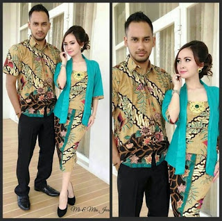 Model Baju Batik Dres Couple