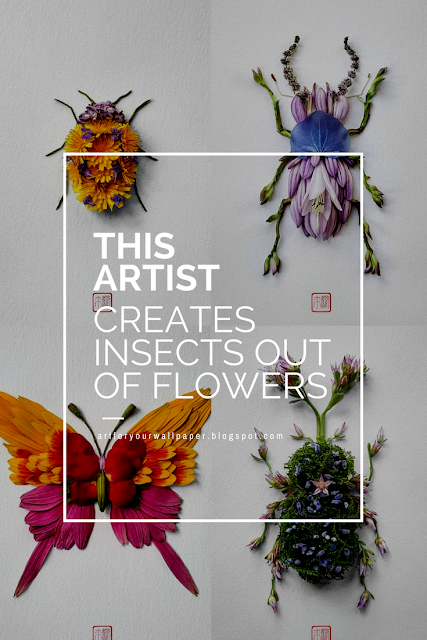 This Artist Creates Insects out of Flowers and I Think I'm in Love