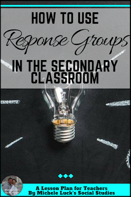 How to Use Response Groups for student discussion in the middle or high school classroom. They are great activities for Social Studies classes.