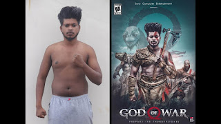 Photo Manipulation, sony jackson, sony jackson background, sony jackson photoshop tutorial, god of war manipulation, god of war background
