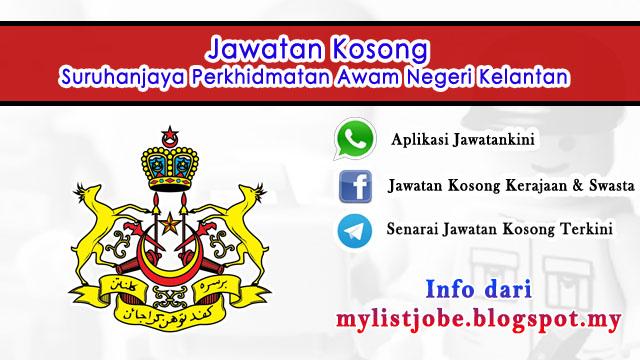 Jawatan Kosong di Suruhanjaya Perkhidmatan Awam Negeri Kelantan