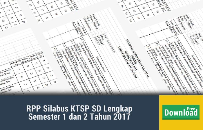 RPP Silabus KTSP SD Lengkap Semester 1 dan 2 Tahun 2017