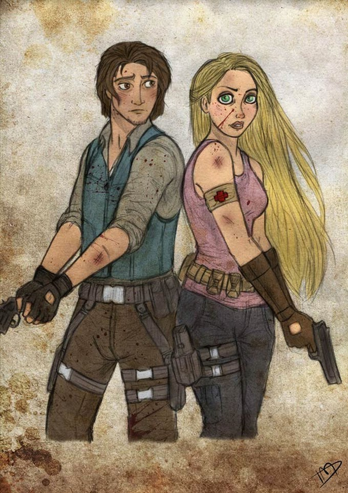 Princesas Da Disney Walking Dead
