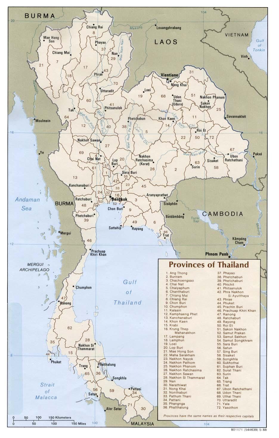 Thailand Karte Welt.Thailand Weltatlas