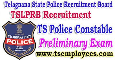 TS Police Constable Preliminary Written Test Cutoff Marks Syllabus