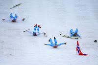 Equipo de Noruega en 4 por 5 Km