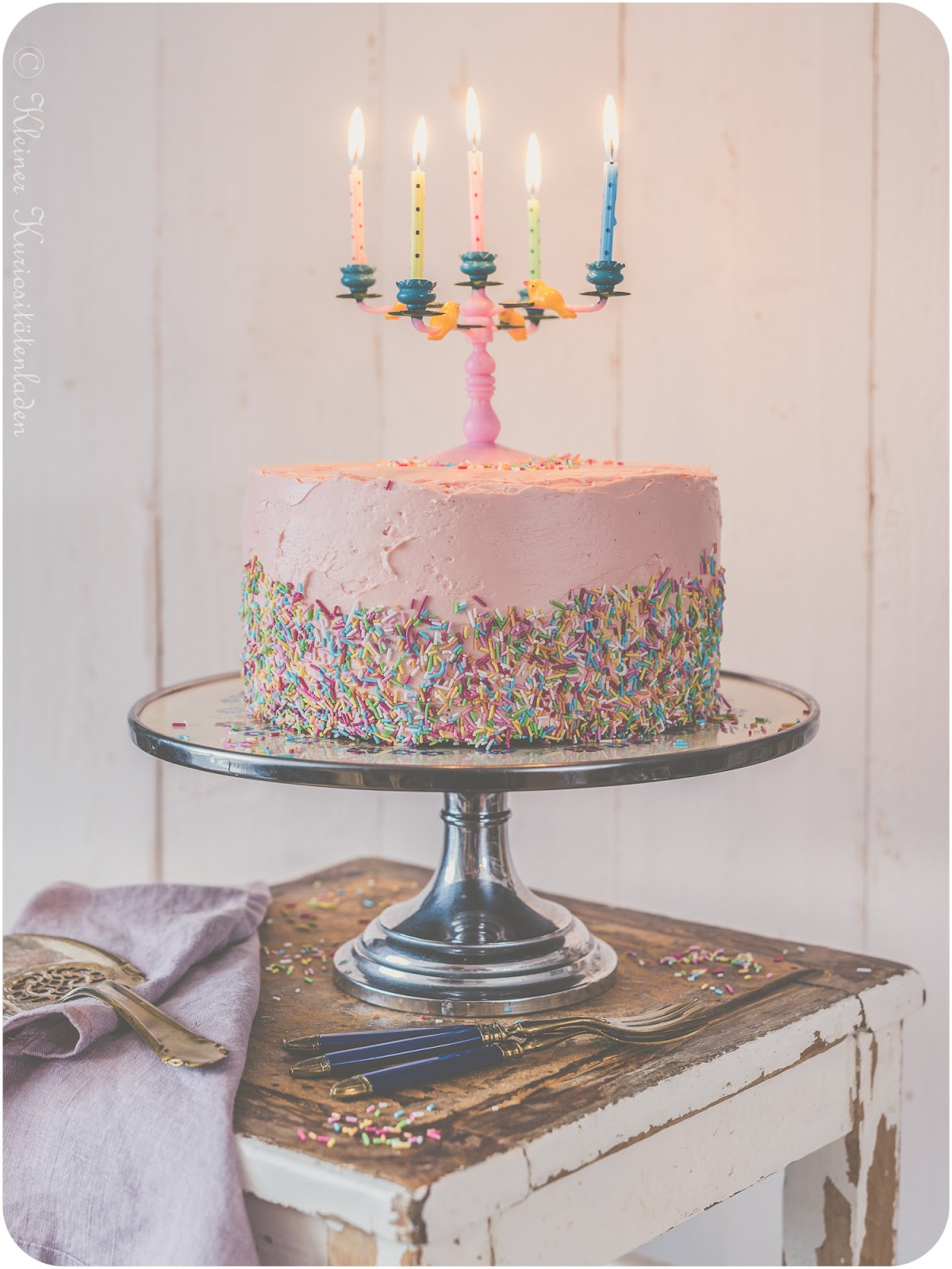 Funfetti Cake zum 10. Bloggeburtstag