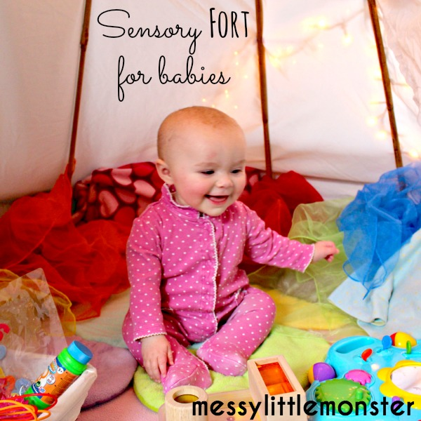 How to make a sensory teepee fort for babies