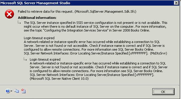 Login timeout expired  The SQL Server instance specified in