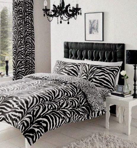 Dormitorio estampado de cebra