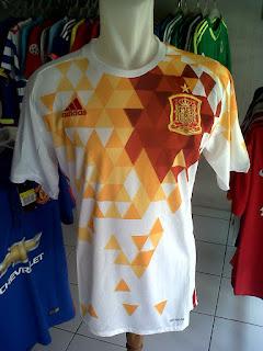 Jual Jersey Spanyol Away Kualifikasi Piala Dunia 2018 di toko jersey jogja sumacomp, murah berkualitas