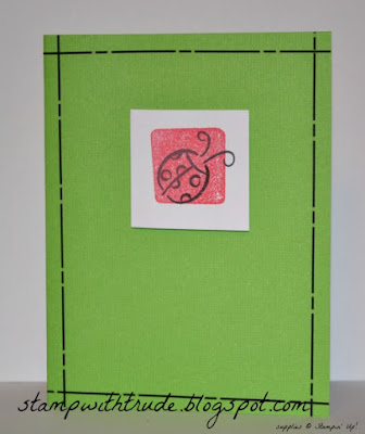 Little Layers, Stampin' Up!, http://stampwithtrude.blogspot.com , Trude Thoman, #throwbackthursday, greeting card, lady bug
