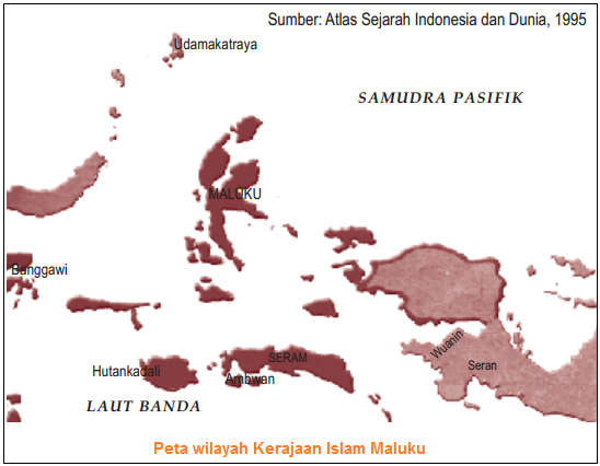 Peta wilayah Kerajaan Islam Maluku