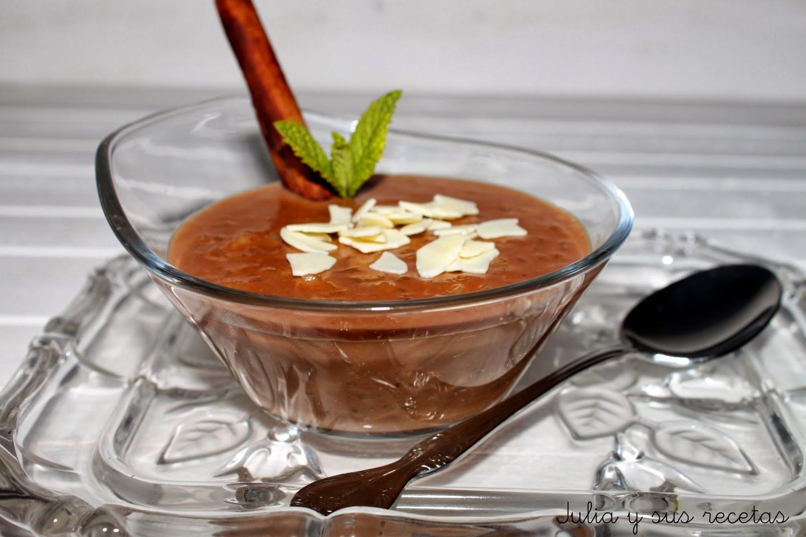 Arroz con leche de chocolate. Julia y sus recetas