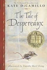 The Tale of Despereaux- one of the best read-aloud books ever! Kids love! It has vices! It has likable and fun characters! The author addresses reading as a necessary life skill! It's perfect!