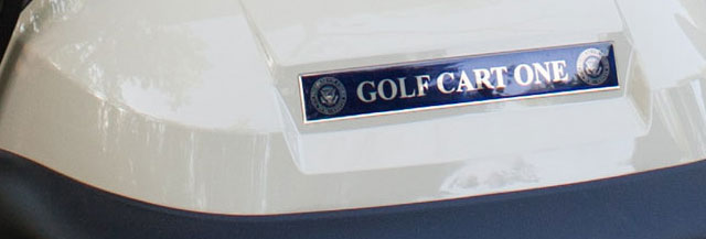 Golf Cart One - the President's golf cart at Camp David