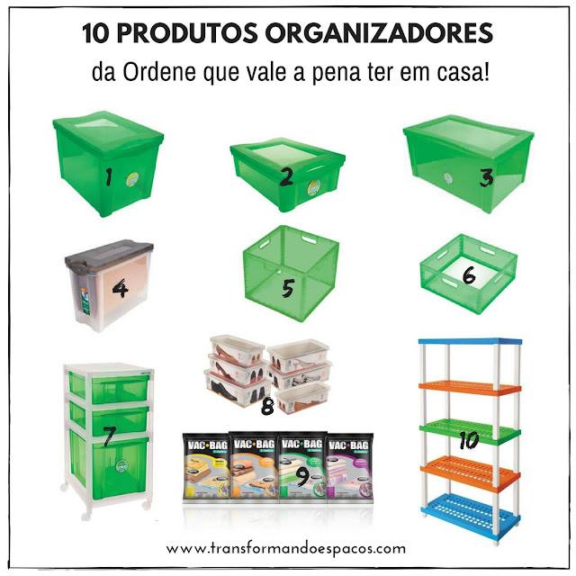 10 produtos organizadores da Ordene que vale a pena ter em casa