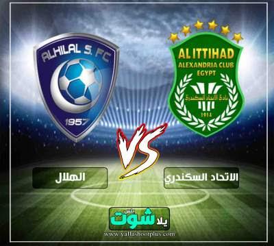 مشاهدة مباراة الهلال السعودي والاتحاد السكندري