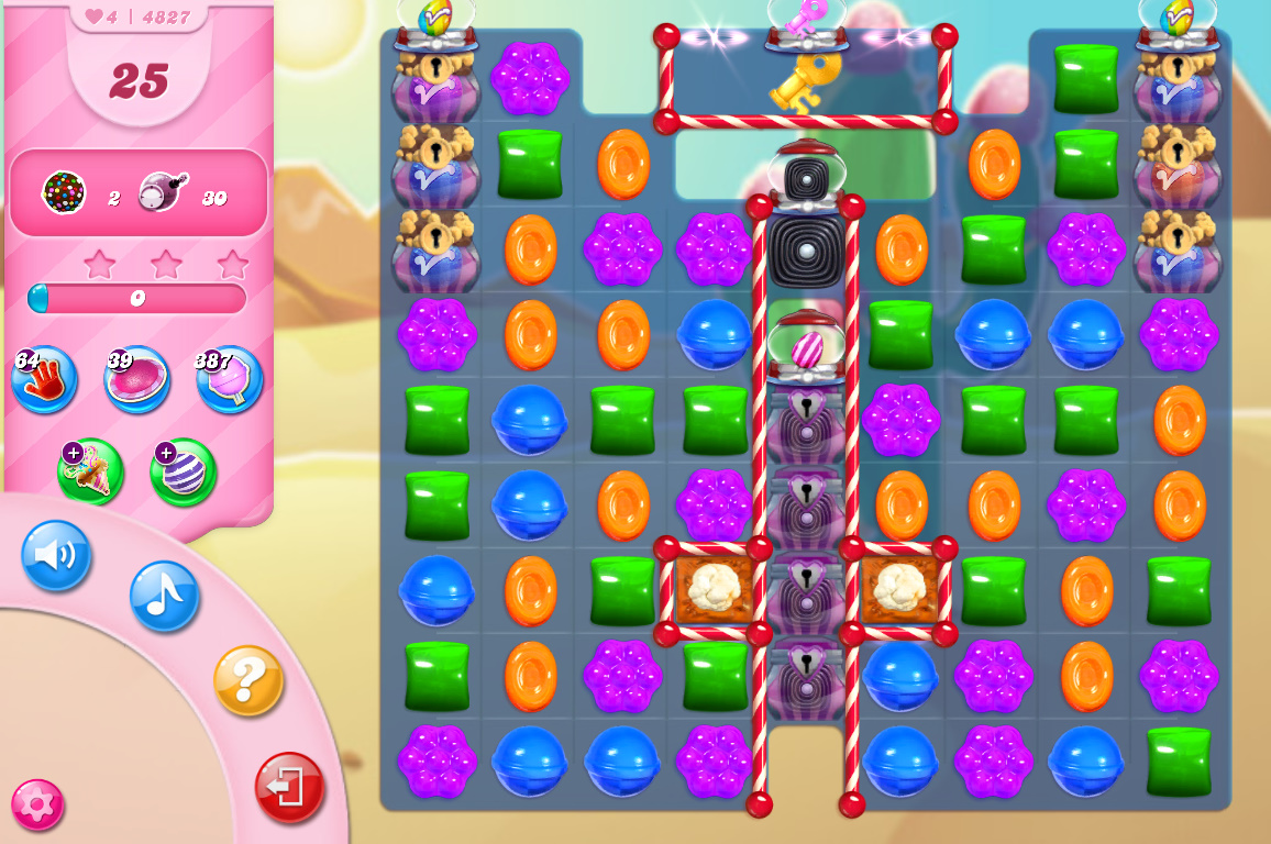 Candy Crush Saga level 4827