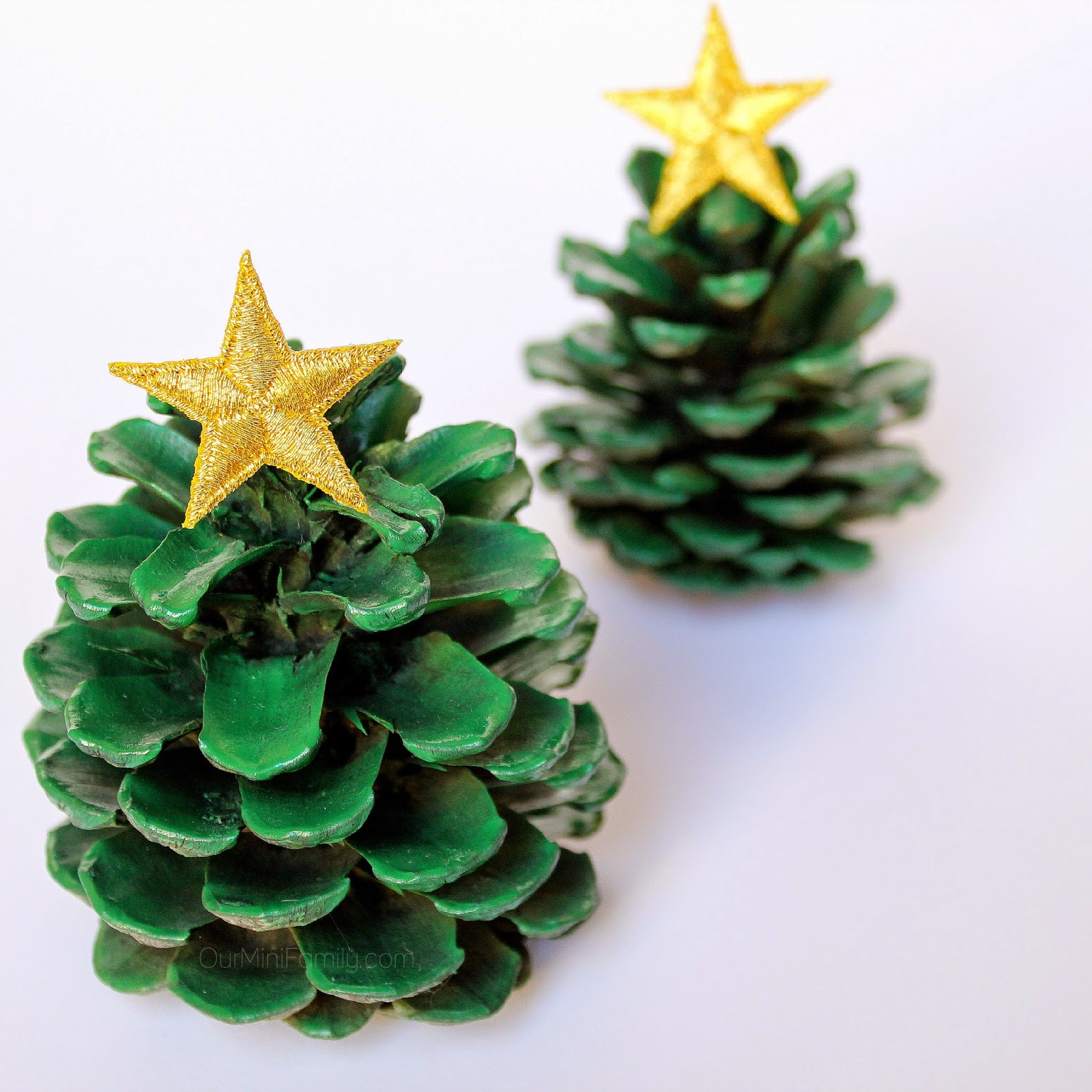 Pine Cone Christmas Tree Craft.Pinecone Christmas Trees Our Mini Family