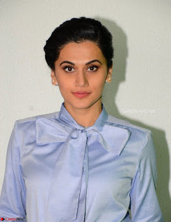 Taapsee Pannu in Light Blue Shirt and Black Top Promoing her movie Gaazi   February 2017 004.jpg