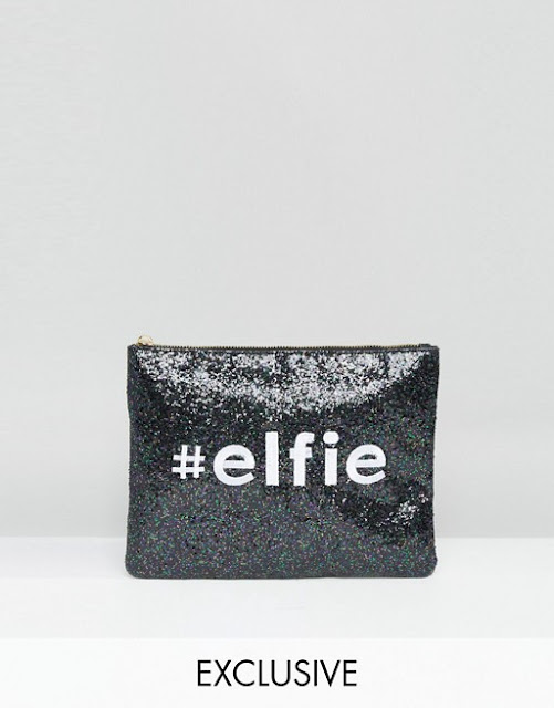 ASOS Glitter Clutch Bag