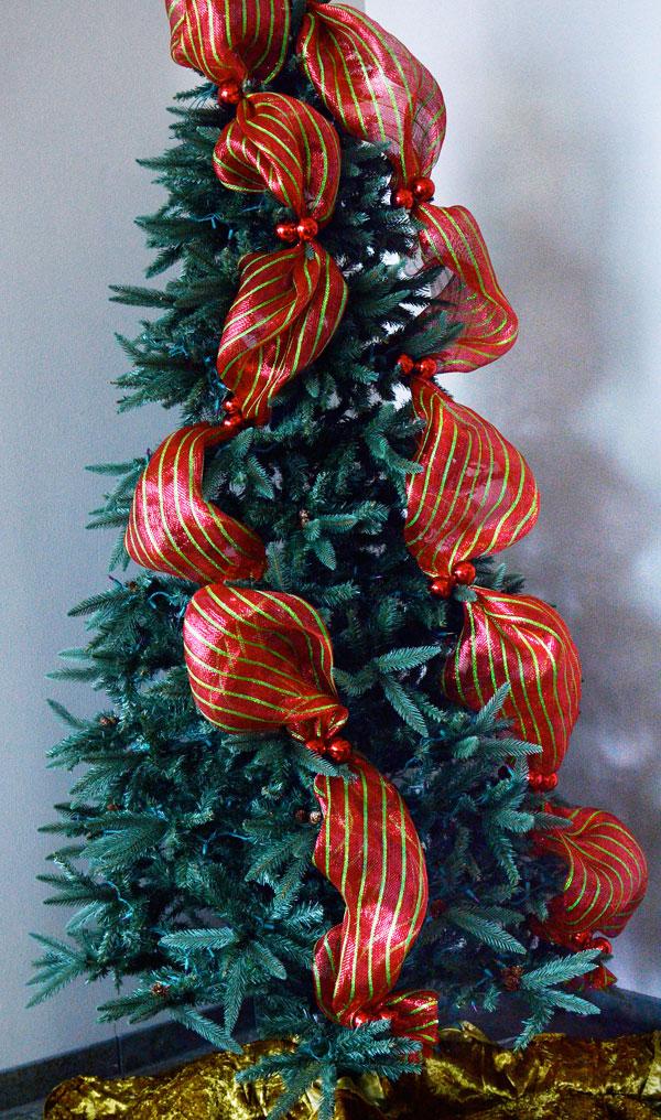 Como Decorar Un Hermoso Arbol De Navidad Con Mallas Lodijoella - Como-decorar-el-arbol-navideo