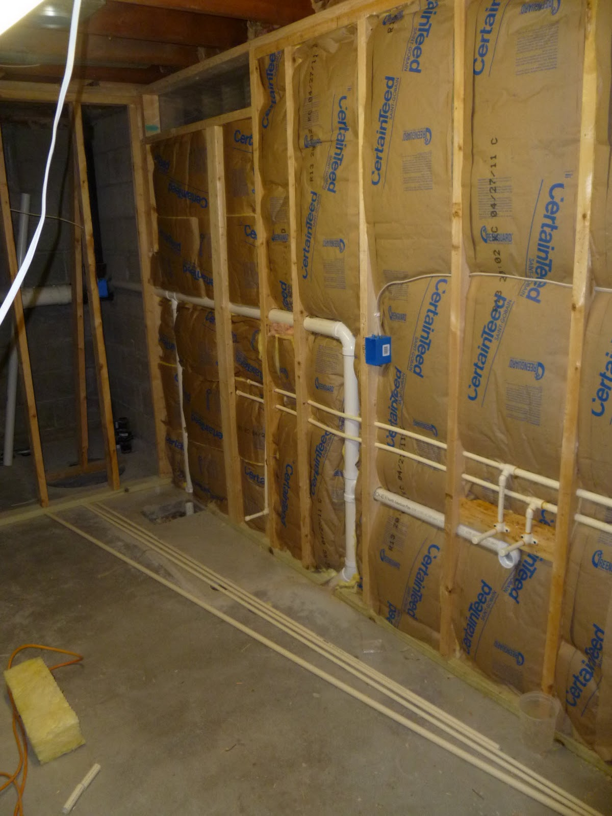 Three Things Very Dull Indeed: Basement Bathroom Project