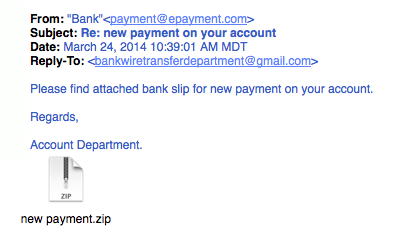 Accounting phishing example