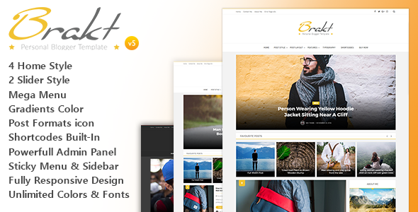 Brakt - Personal Blogger Template Full Version Download