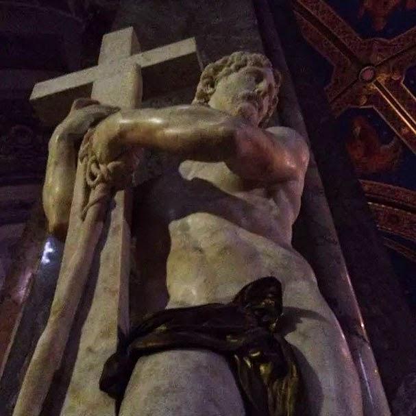 Cristo atribuido a Michelangelo