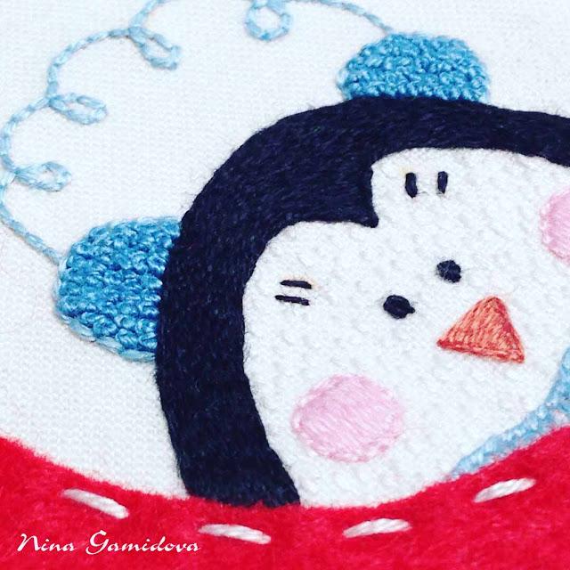 новогодняя игрушка с вышивкой по мк И. Китаевой