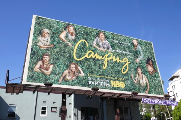 Camping series launch billboard