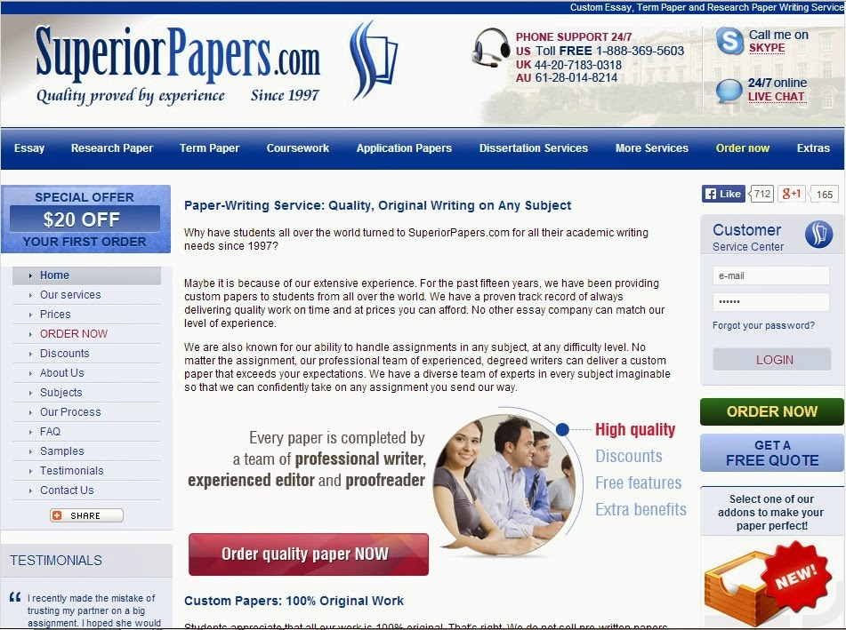 Essay writing service review management