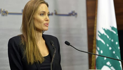 Angelina Jolie visited Syrian orphans in Lebanon