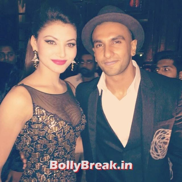 we do party all night 🎶 congratulations ranveer for fhm , bachelor of they ear , 2014 , fhm ,india . it was super fun presenting an award last night.  exceptional outfit by rockstar  himself @rockystar100 💋 urvashi rautela ,, Urvashi Rautela Hot Pics from FHM Bachelor of the year 2014 Award