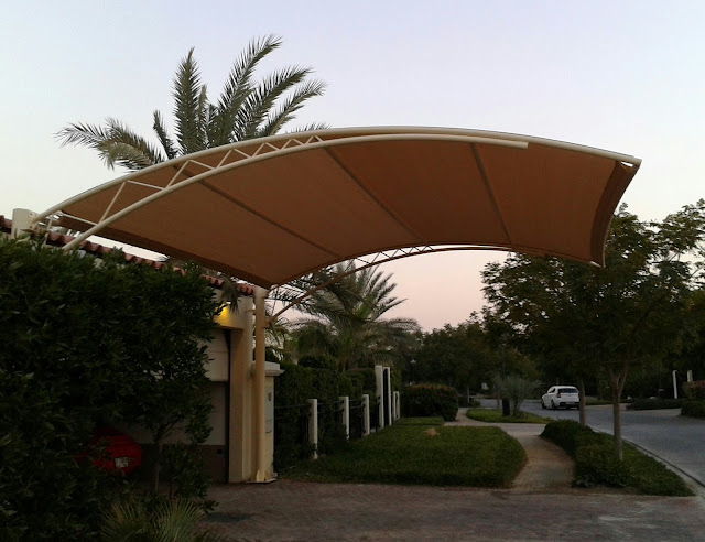 Car parking shades in Ajman Sharjah Dubai Umm Al Quwain Ras Al Khamaih Fujairah Abu Dhabi Alain Al Ayn UAE