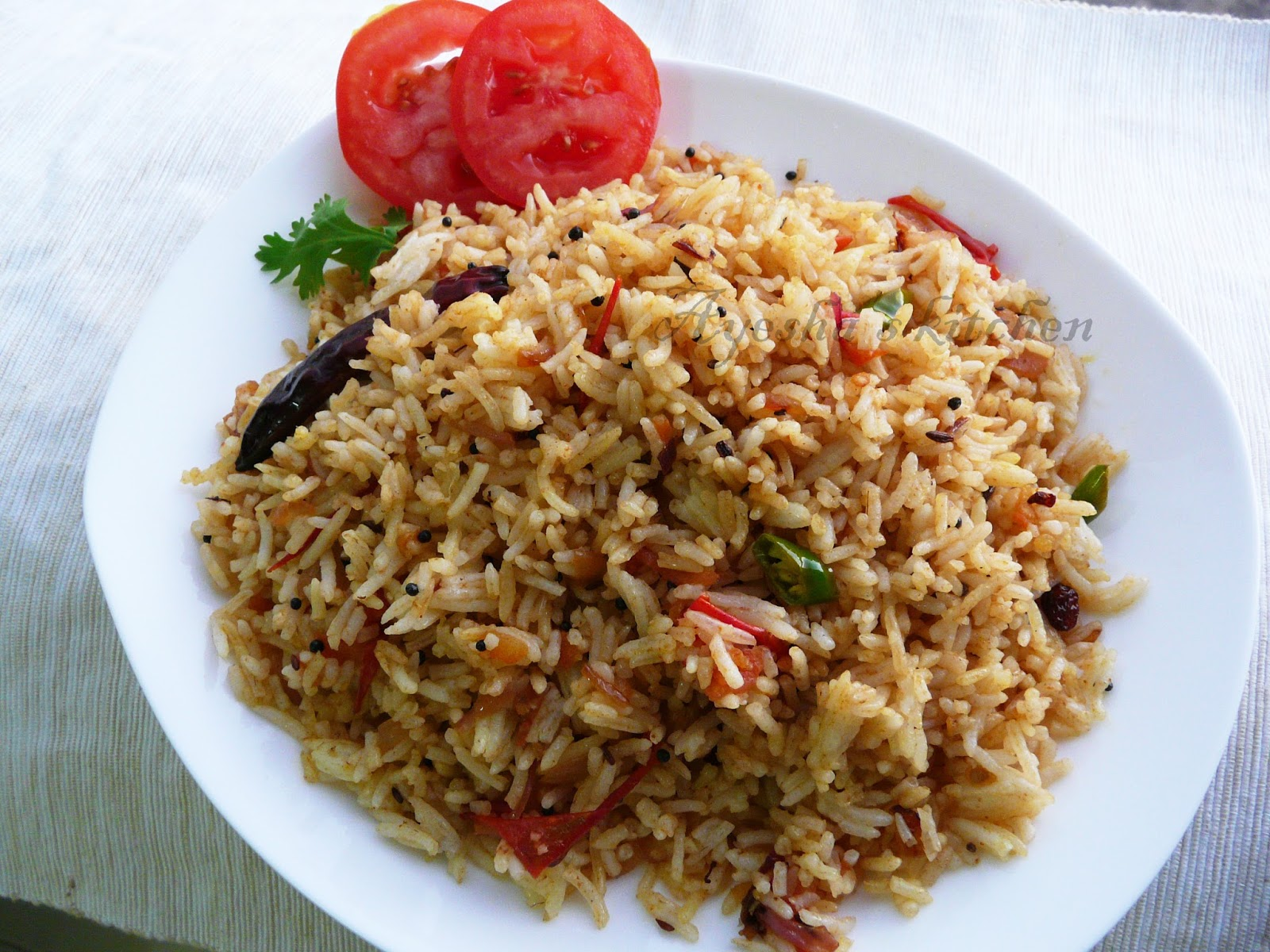 Tomato rice recipe how to make tomato rice thakkali sadam here is my recipe of tomato ricetomato sadam which i inspired from dessana recipe book loved her rice varieties and hope i can try and share her other ccuart Choice Image