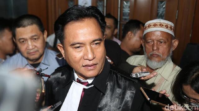 Yusril Ihza Mahendra Jadi Pengacara Jokowi-Ma'ruf di Pilpres 2019