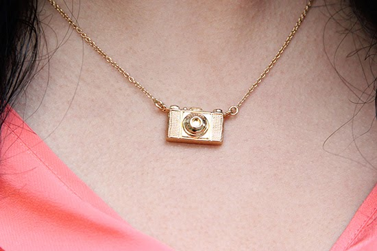 Kate Spade Camera Necklace