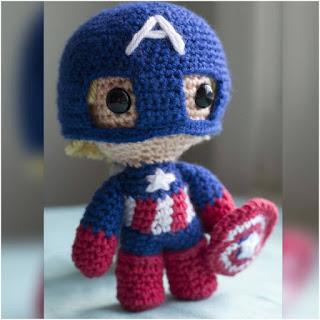 patron amigurumi Capitán América crochet y amigurumis