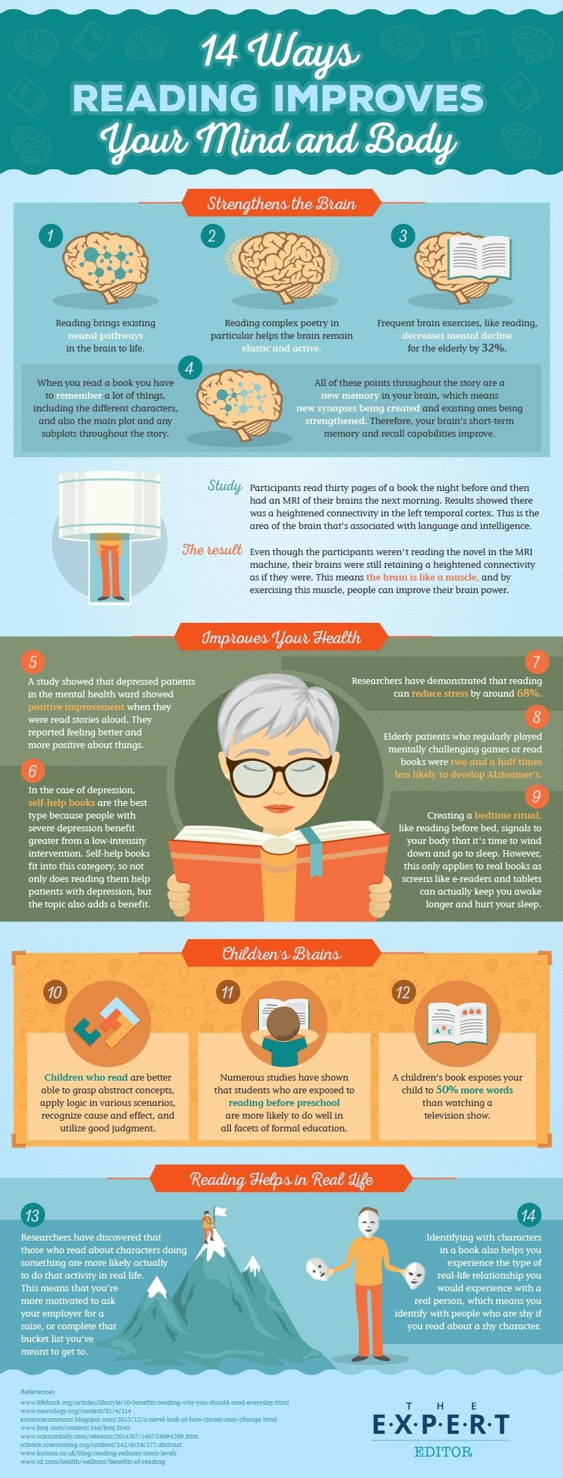 14 Ways Reading Improves Your Mind and Body - #Infographic