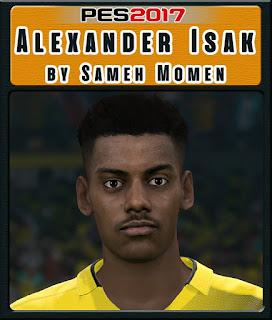 PES 2017 Faces Alexander Isak by Sameh Momen