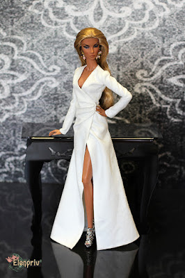 Fashion Royalty Doll Natalia Fatale Brazen Beauty in ELENPRIV vs Angelina Jolie from Tourist premiere Elena Peredreeva Fashion royalty Doll Dress Handmade Outfit Jason Wu Одежда кукла выкройка ФР Мебель Диорамы Барби Своими руками
