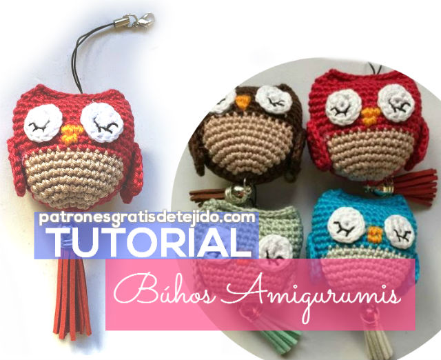 tutorial en video de amigurumis búhos.