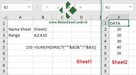 Contoh Fungsi dan Rumus INDIRECT Excel 3