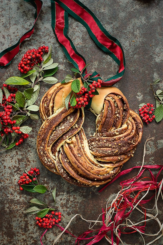 Estonian Kringle. Dulce tipico navideño. Norte de Europa