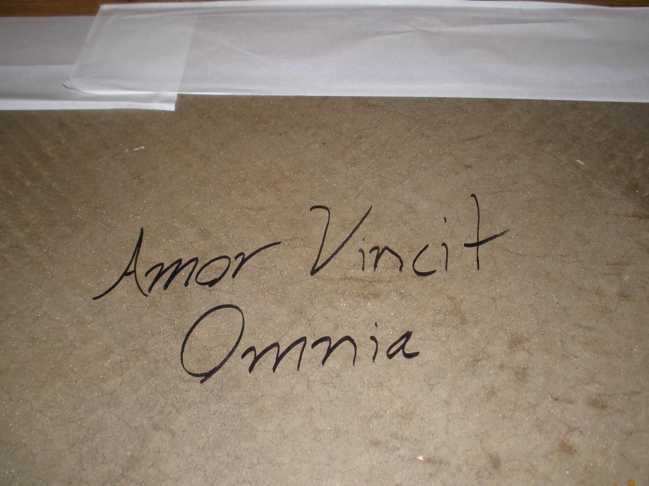 Amor Vincit Omnia Love Conquers All Lynne Hartke